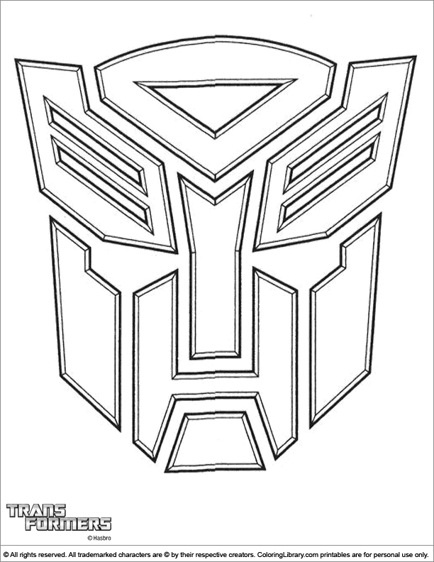 Transformers cool coloring
