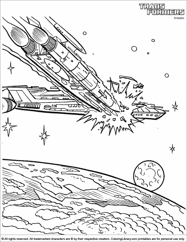 Transformers free coloring page for children