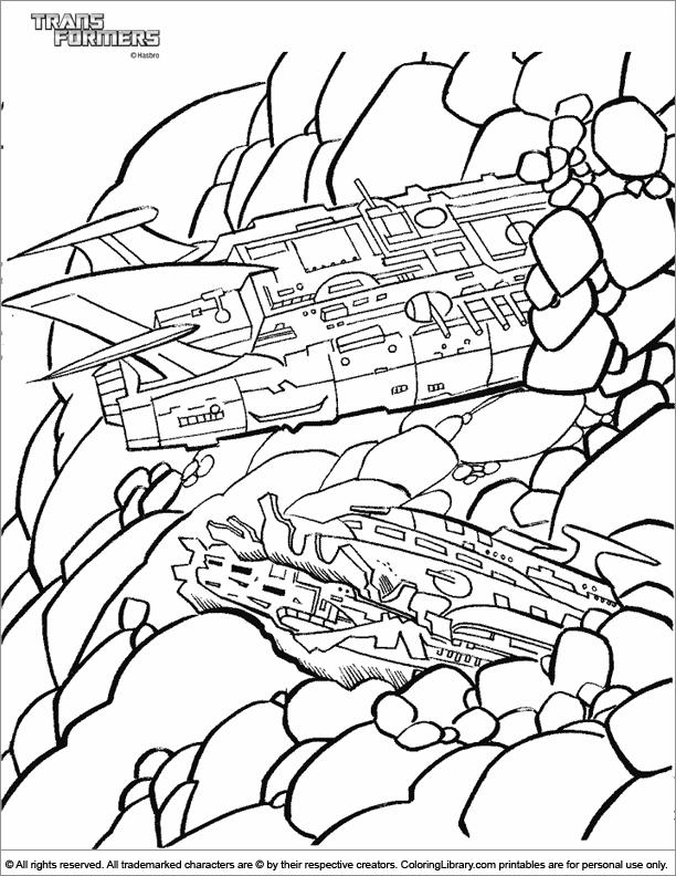 Transformers fun coloring sheet