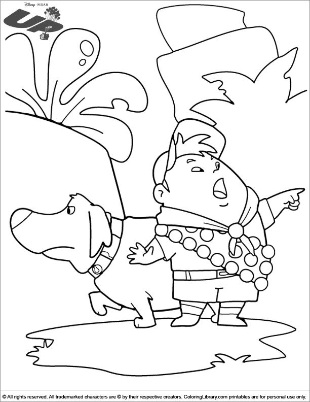 Up coloring sheet to print