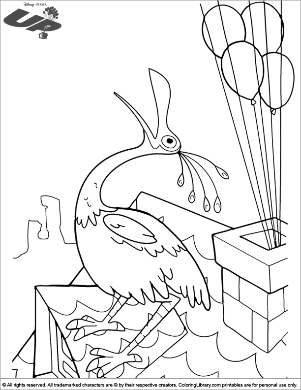 Up coloring printable for kids