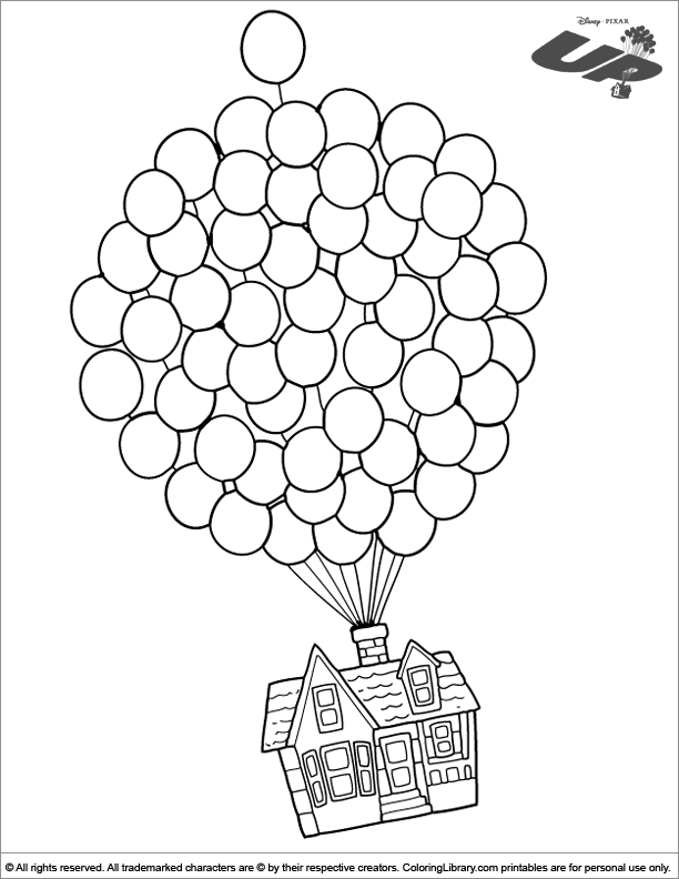 Up Coloring Picture Up Coloring Pages