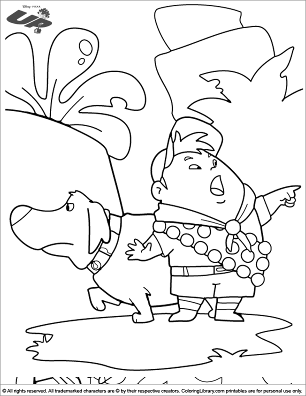 Up coloring page for kids to print