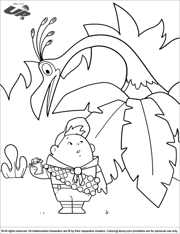 Up online coloring page