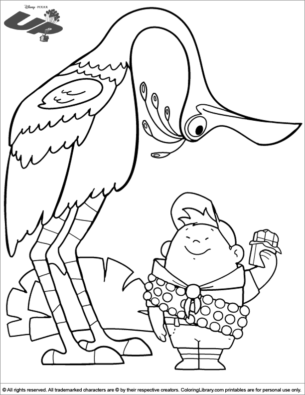 Up coloring picture to print