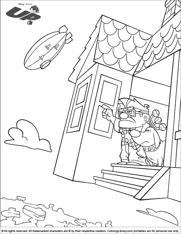 Up coloring page fun