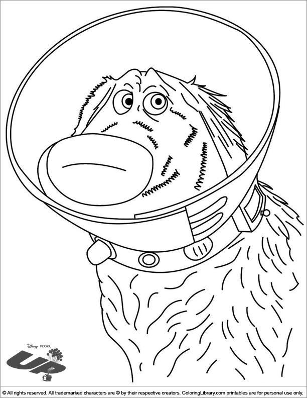 Up colouring page
