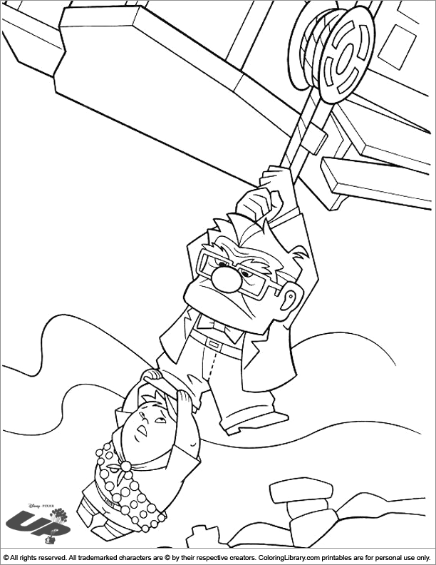Up coloring page for children