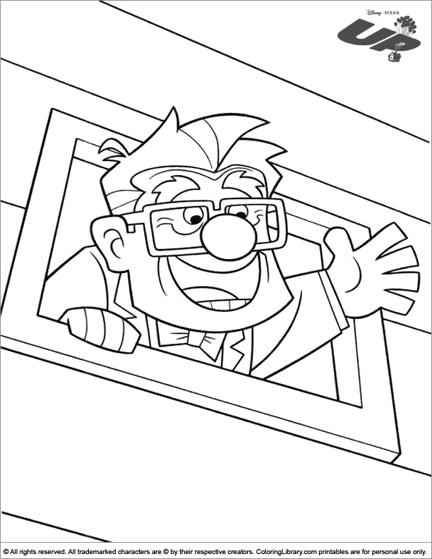 Up coloring picture