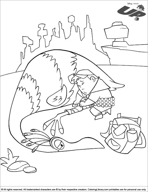 Up free coloring book page