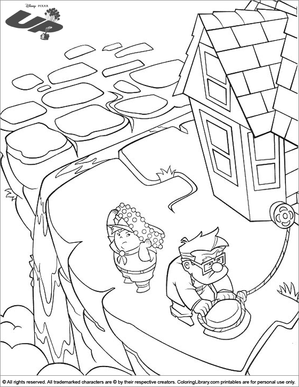 Up fun coloring picture