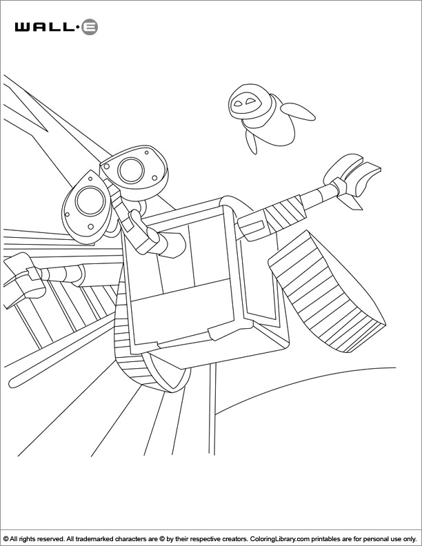 Cool WALL E coloring page
