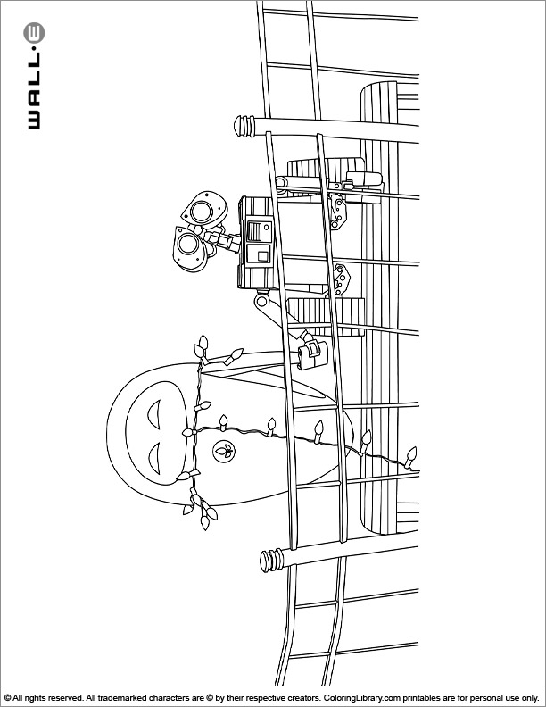 Fun WALL E coloring page