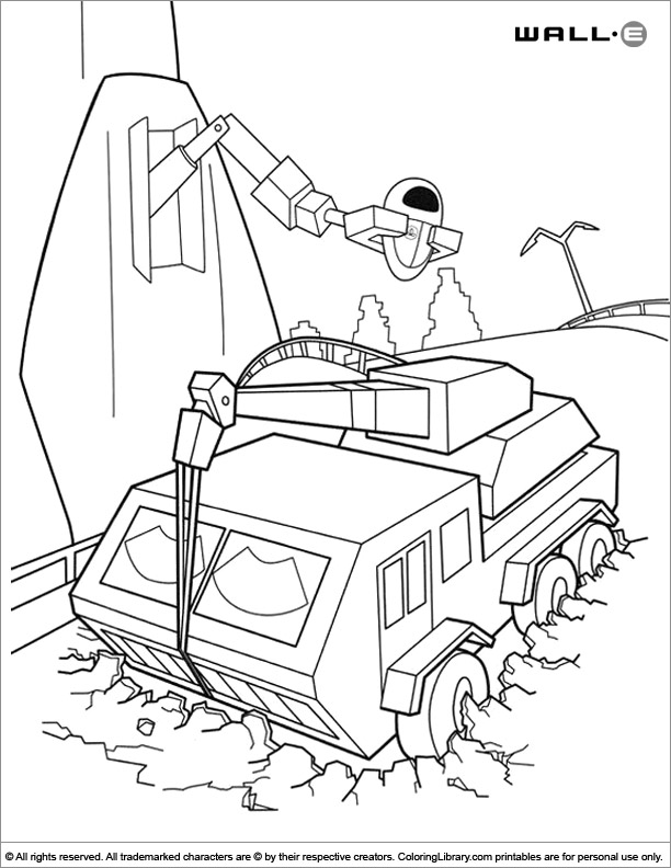 WALL E coloring for kids free