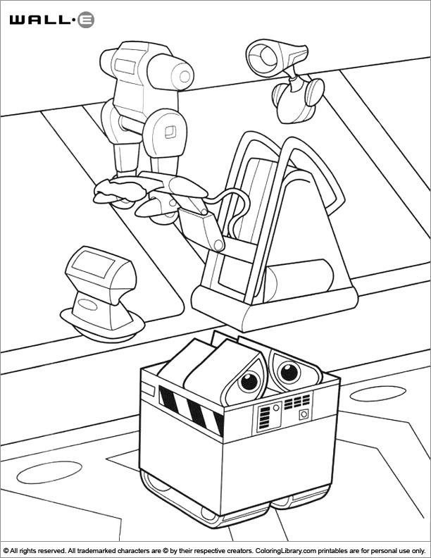 Amazing WALL E coloring page