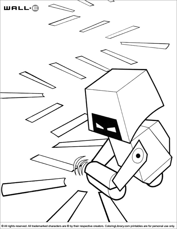 WALL E coloring page to color for free