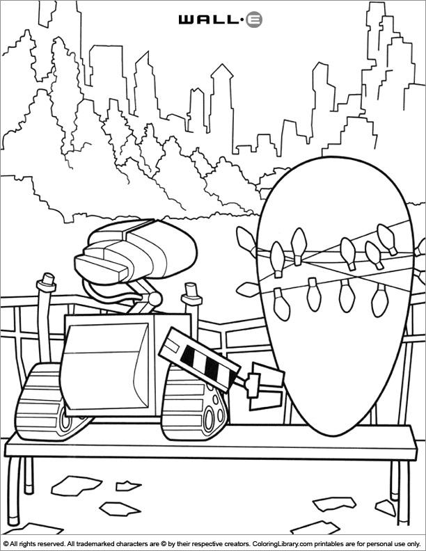 WALL E printable page