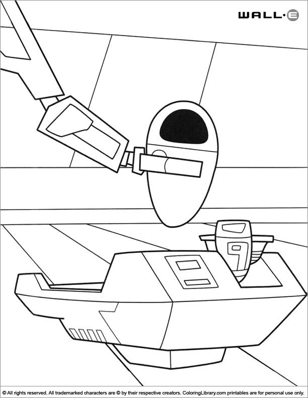 WALL E coloring book sheet