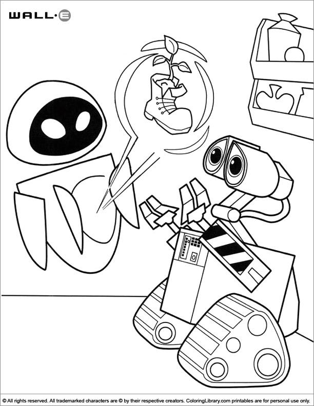 WALL E coloring page