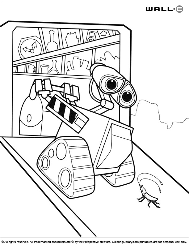 WALL E coloring book