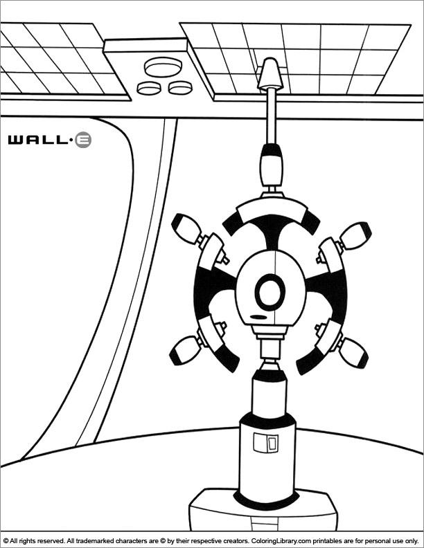 WALL E coloring