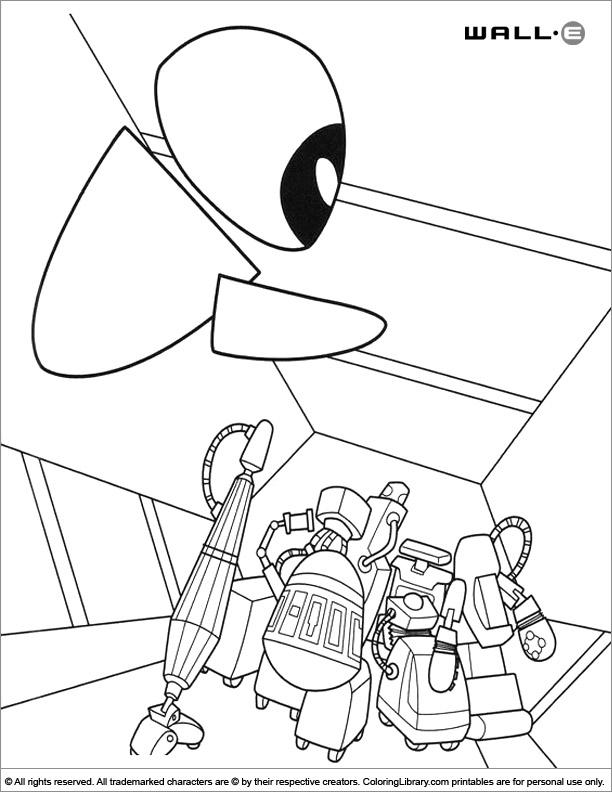 WALL E colouring book