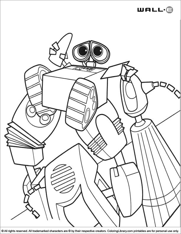 WALL E free coloring page