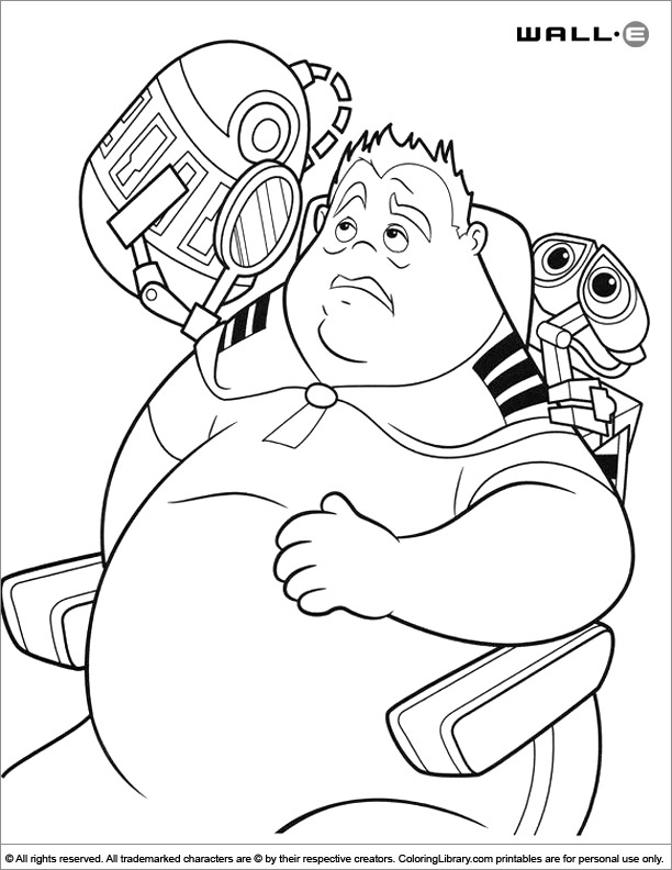 WALL E coloring page to print