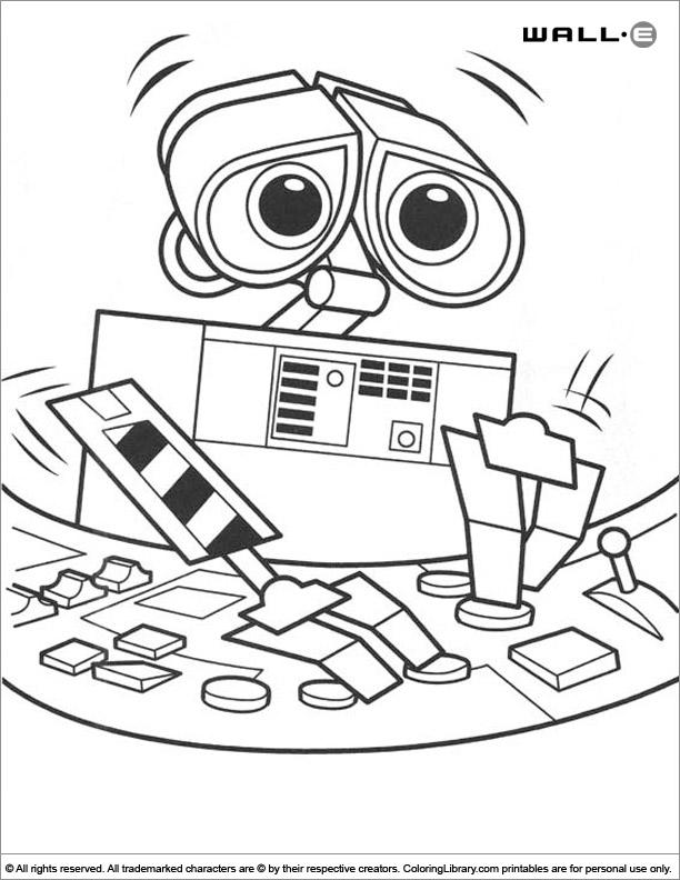WALL E free coloring