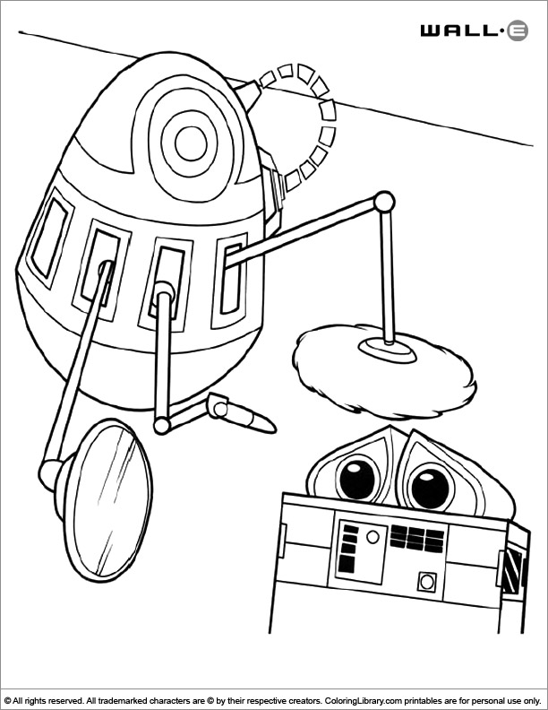 WALL E coloring page online