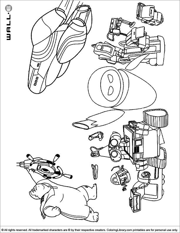 WALL E printable for kids