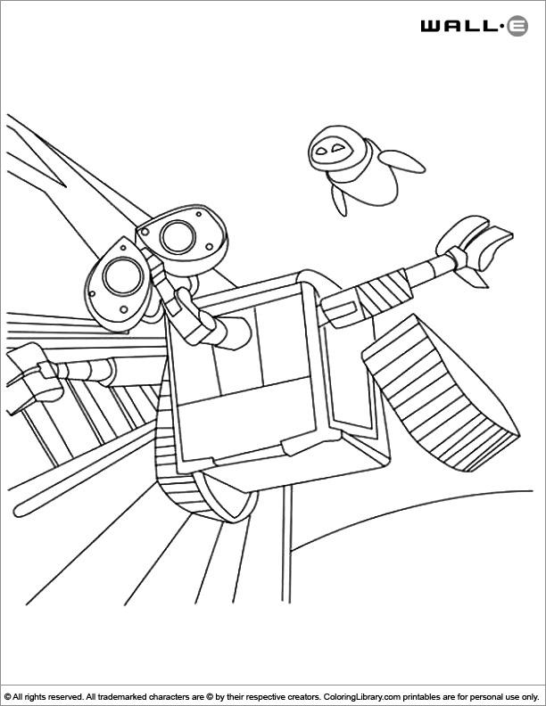 WALL E coloring book printable
