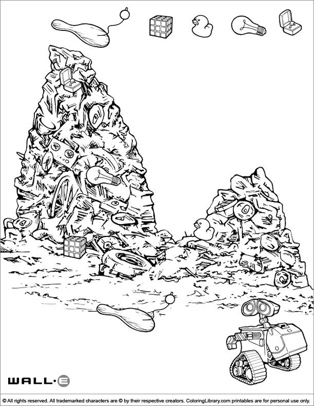 Fun WALL E coloring page