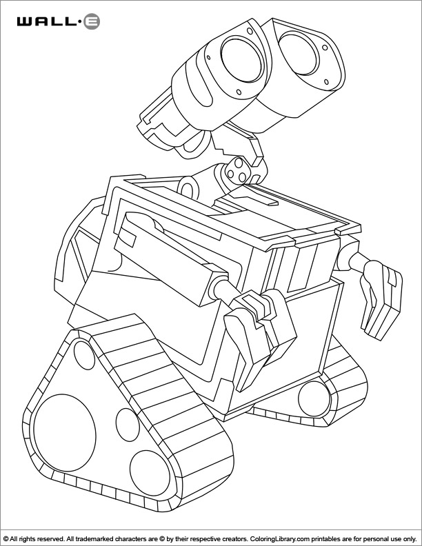 WALL E for coloring