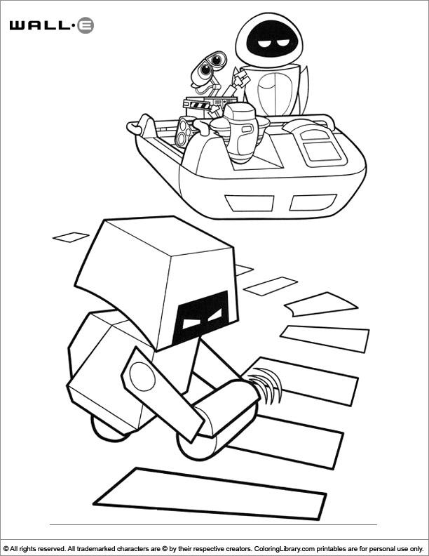 Free WALL E coloring page