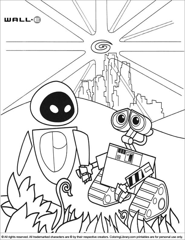 WALL E coloring image