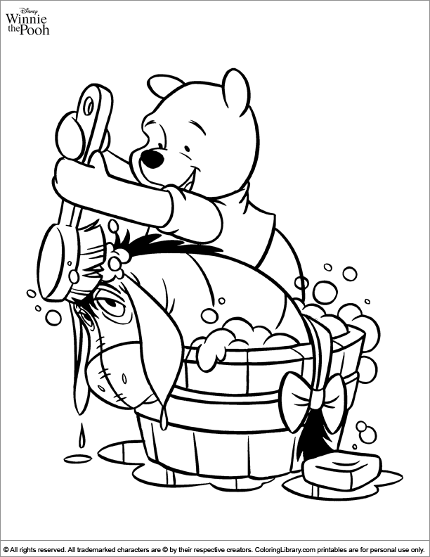Winnie the Pooh coloring book page