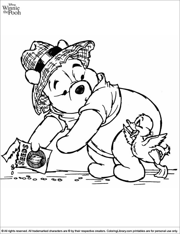 Winnie the Pooh coloring for children