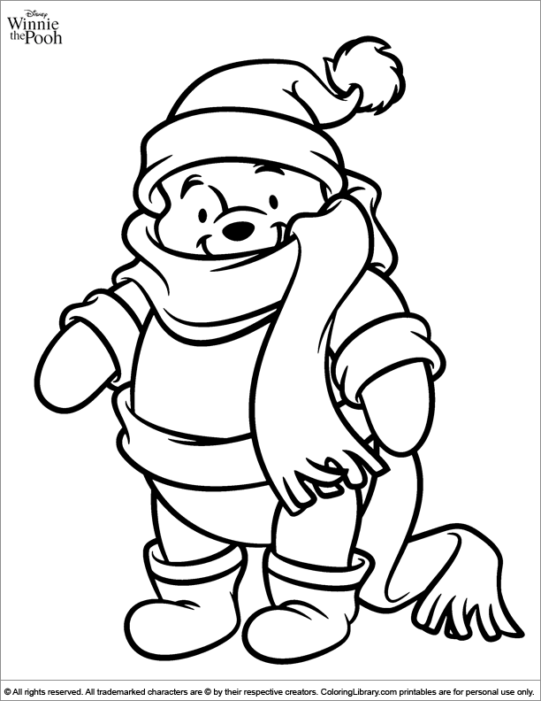Winnie The Pooh Coloring Picture Colour Picture