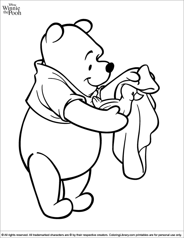 Winnie the Pooh coloring book sheet