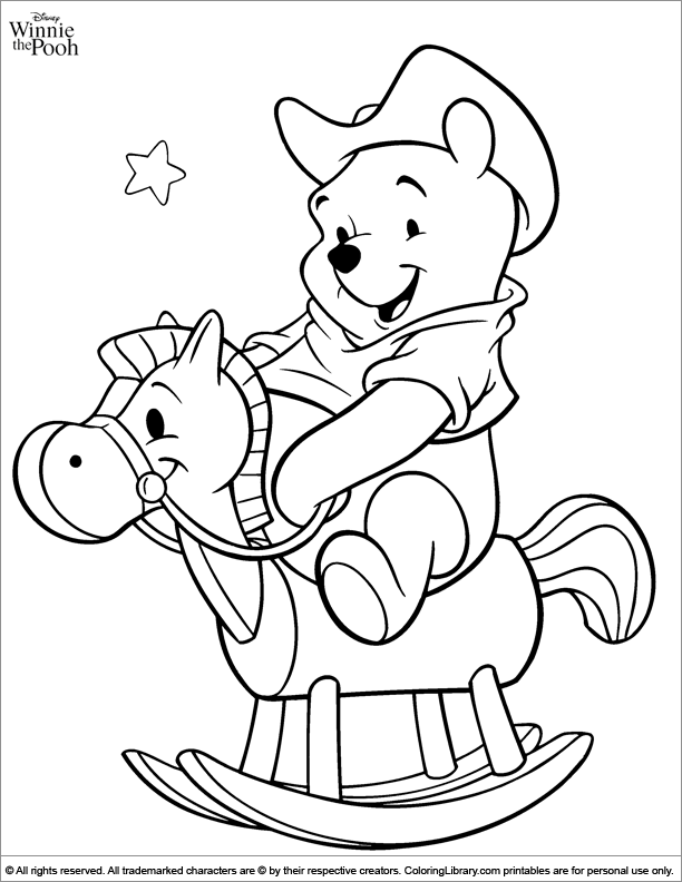 Cool Winnie the Pooh coloring page