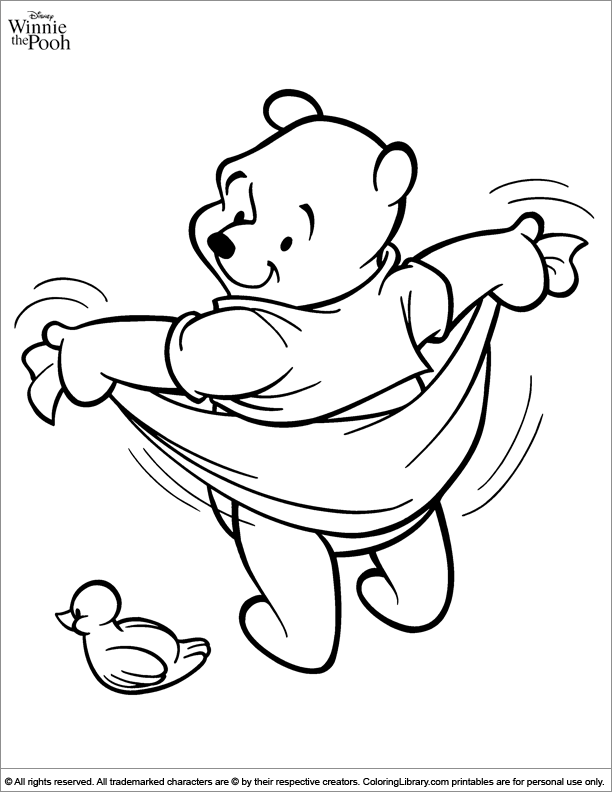 Winnie The Pooh Coloring Pages Gallery - Whitesbelfast | 792x612