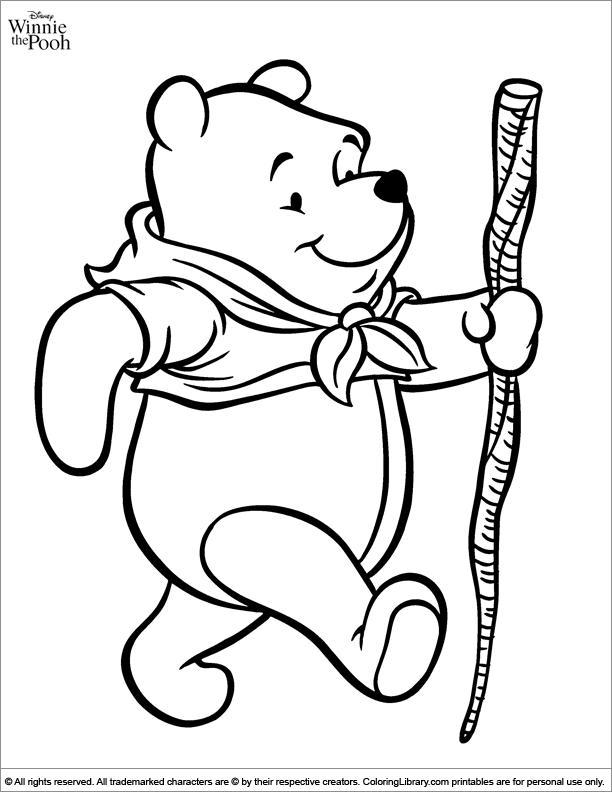 Winnie the Pooh cool coloring
