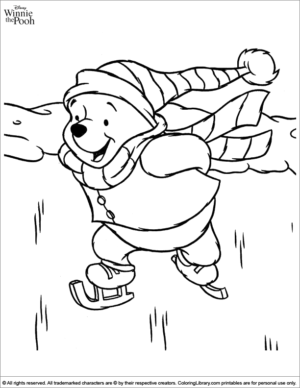 Winnie the Pooh free coloring book page