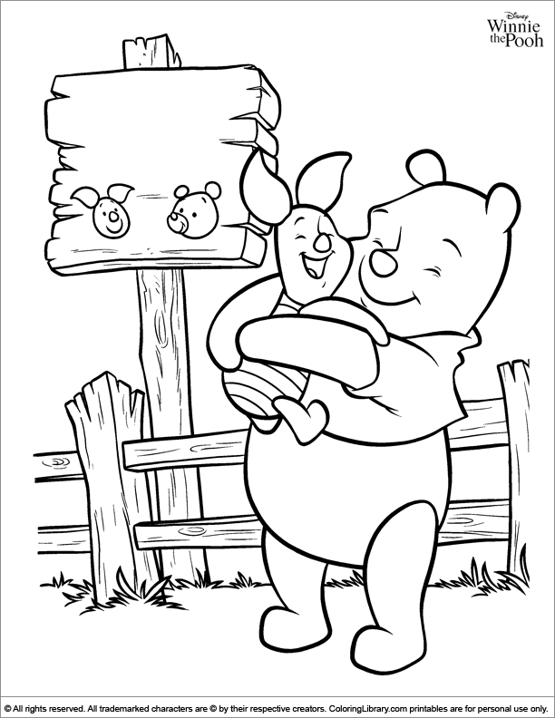 Winnie the Pooh coloring page that you can print