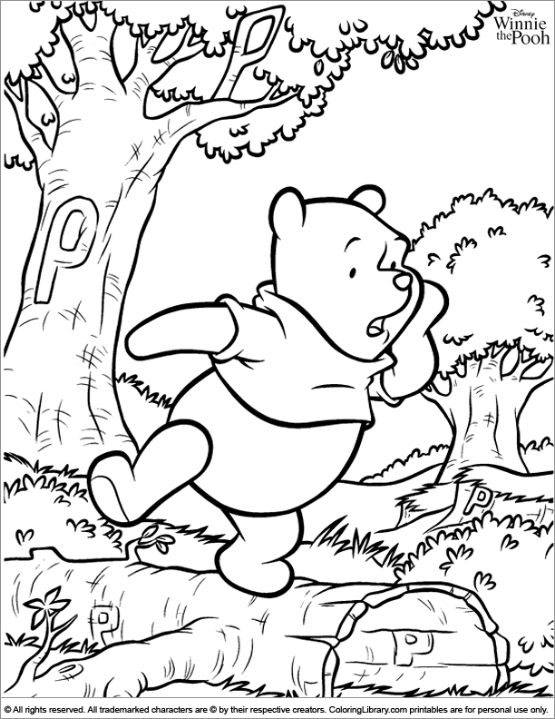 Winnie the Pooh fun color page