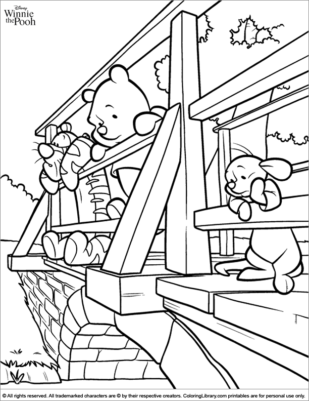 Fun Winnie the Pooh coloring page