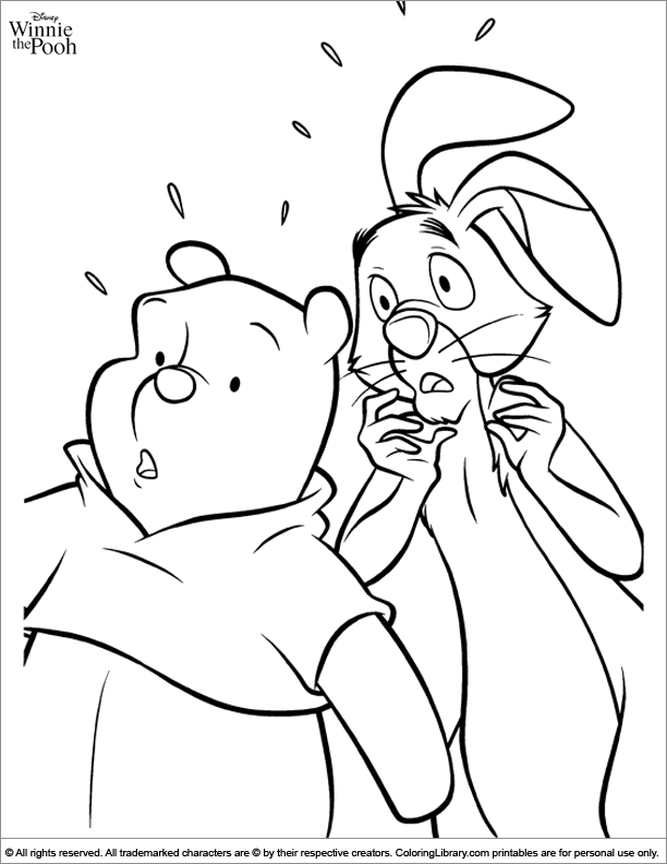 Winnie the Pooh printable coloring page for kids