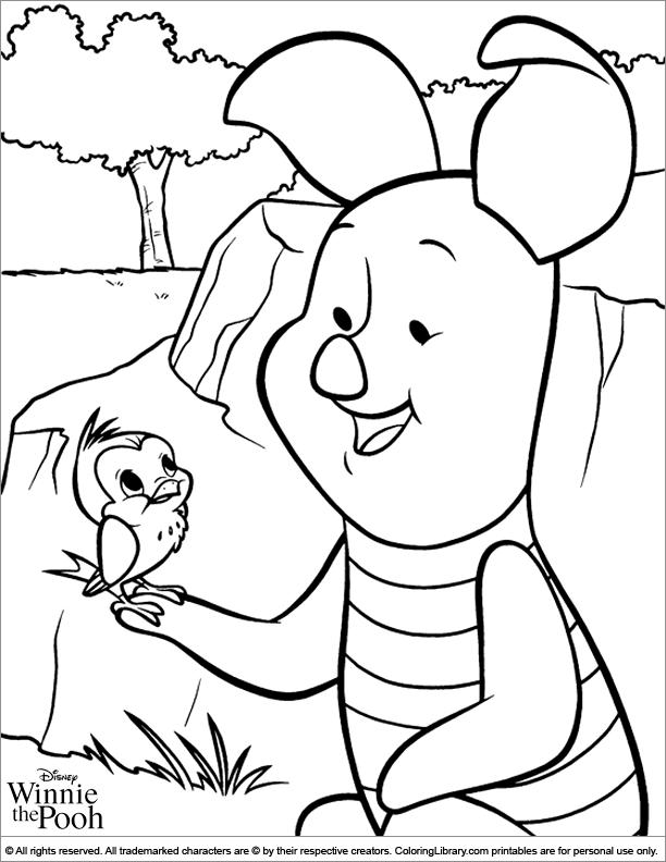 Winnie the Pooh coloring printable