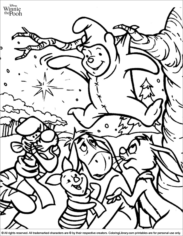 Winnie the Pooh coloring printable for kids